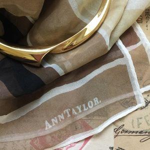 VINTAGE ANN TAYLOR Silk Scarf